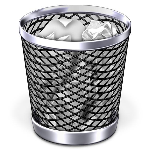 fijar la papelera de reciclaje corrupto