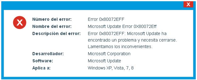 Microsoft Update Error 0x80072eff
