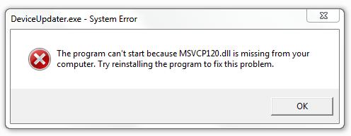 Cómo deshacerse del error Msvcp120.dll