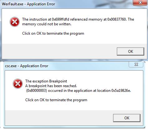 cómo desinstalar error WerFault.exe