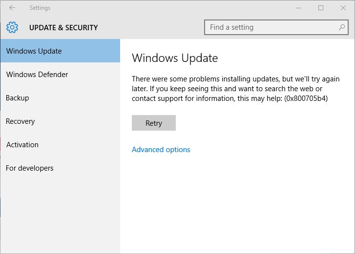 Si su sistema Windows muestra el código de error 0x800705b4 mientras usa Windows Defender o Microsoft Security Essential o utiliza la herramienta de actualización de Windows, entonces está en el lugar correcto, en este blog aprenderá cómo solucionar Windows 10 Updater y Windows 10 Defender Error Code 0x800705b4. Una vez que este error afectará a su sistema, entonces no podrá instalar Windows Update correctamente en Windows 10, no se preocupe ya que puede tratar fácilmente este problema sin necesidad de ningún conocimiento profesional. Acerca de Error 0x800705b4 Error 0x800705b4 es uno de los errores comunes de actualización de Windows 10 que aparece cuando intenta actualizar o descargar cualquier actualización disponible. Este tipo de error puede aparecer y afectar al proceso de actualización, también sucede cuando el usuario intenta actualizar la actualización de Windows Defender. Hay un montón de causas comunes que pueden generar Error 0x800705b4, si usted es uno que están sufriendo de este error de actualización, simplemente aplique los trucos siguientes para corregir el error 0x800705b4. Trucos para corregir el código de error de actualización de Windows 10 0x800705b4 Para resolver Windows 10 Updater y Windows 10 Defender Error Code 0x800705b4 hay muchas correcciones disponibles a través de Internet. Algunas correcciones comunes son: Ejecute la herramienta DISM, aplique el comando sfc / scannow, tome la ayuda de Windows Update Troubleshooter, también intente restablecer los componentes de Windows Update manualmente, desactive el software antivirus y mucho más. Si desea corregir 0x800705b4 error con la ayuda de la siguiente solución dada, entonces primero debe saber una cosa; Ya que las causas pueden diferir para cada caso de modo que se apliquen trucos diferentes a cada propietario de la computadora. Por lo tanto, aplique toda la solución dada hasta que obtenga 0x800705b4 error eliminado. Debajo de la solución se da desde el muy general a la orden de avance. De 