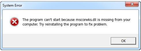Reparar Mscorwks.dll Error