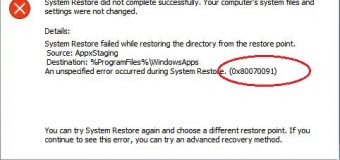 [Fijo] ¿Cómo resolver Windows 10 Restaurar sistema de error 0x80070091?
