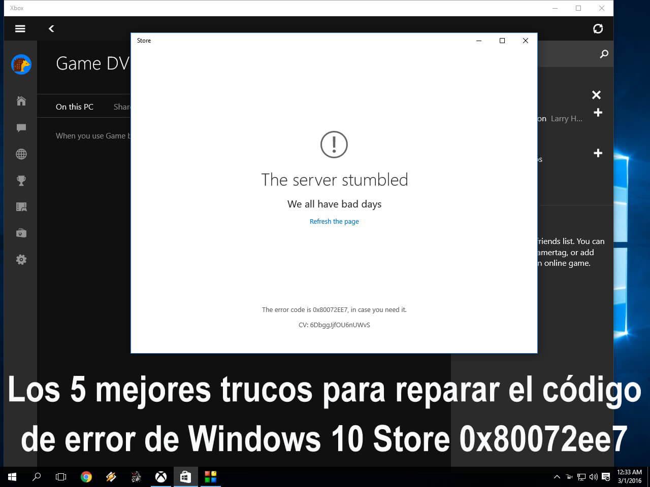 Windows store error 0x80072ee7