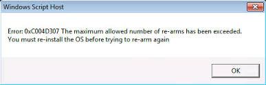 eliminar el error 0xc004d307