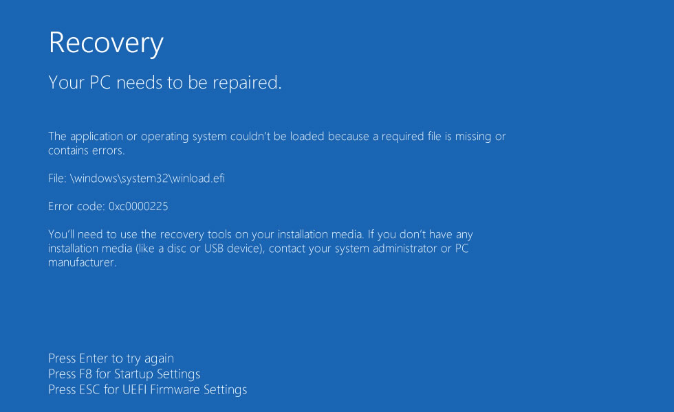 el error de windows system32