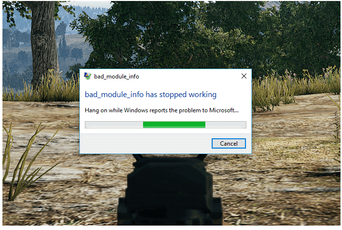 repare el error Bad_Module_Info en Windows 10