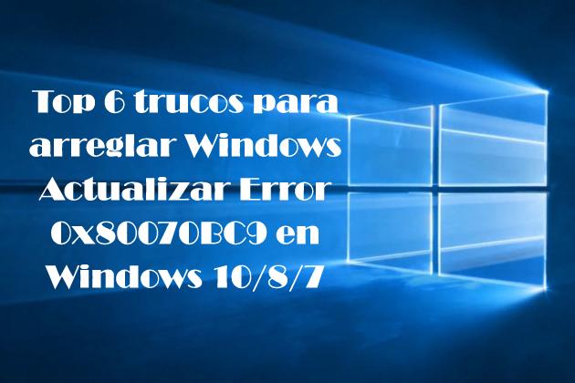 código de error 0x80070BC9