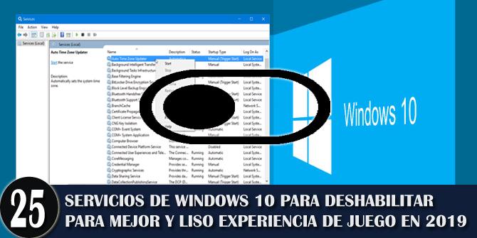 Deshabilitando los servicios de Windows 10